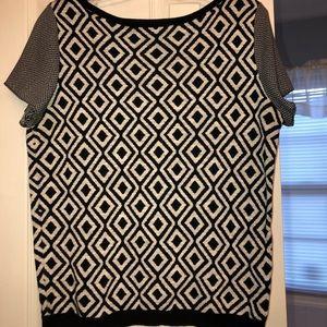 Loft Geometric Print Knit Top